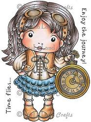 Time Flies Marci Stamp Set Cling Unmounted Rubber Stamp La La Land Crafts 5244