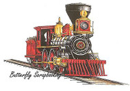 TRAIN Old West Locomotive Cling Unmounted Rubber Stamp C.C. Designs JD1022 New