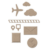 TRAVEL SET 12 Dies Creative Steel Dies & Magnetic Storage LITTLE B 100392 NEW