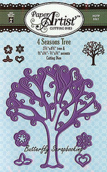 Tree 4 Seasons Tree Set Craft Cutting Dies Hot Off The Press Dies 5321 New