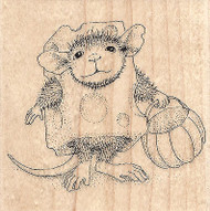 Trick Or Cheese NEW HOUSE MOUSE Wood Mounted Rubber Stamp STAMPENDOUS Halloween