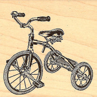 Tricycle, Wood Mounted Rubber Stamp JUDIKINS, NEW - 3365F