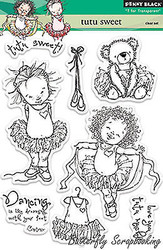 Tutu Sweet Stamp Set, Clear Unmounted Rubber Stamp Set PENNY BLACK - NEW, 30-154