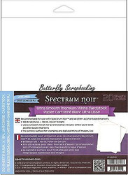 Ultra-smooth Premium White Cardstock, 20 Sheets Spectrum Noir - CC-USPC20