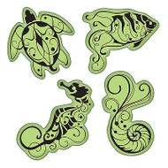Under The Sea Stamping Gear Unmounted Cling Rubber Stamp Set Inkadinkado New