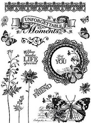 Unforgettable Clear Unmounted Rubber Stamp Set HOT OFF THE PRESS HOTP-1158 New