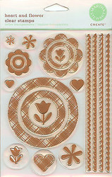 Unmounted Clear Rubber Stamps Set Martha Stewart Crafts New Frames & Borders