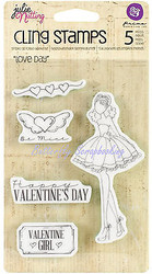Valentine Doll Stamp PRIMA MARKETING Cling Unmounted Rubber Stamp Set 910716