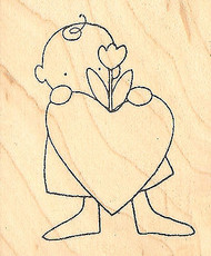 VALENTINE LOVE Sweetheart Wood Mounted Rubber Stamp PRINTWORKS Stamps New