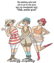 VINTAGE Bathing Suit Set Cling Unmounted Rubber Stamp Art Impressions 4589 NEW