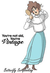VINTAGE Your Vintage Set Cling Unmounted Rubber Stamp Art Impressions 4590 NEW