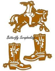 WILD WEST Dies Rodeo Cowboy Craft Die Cutting Dies Joy! Crafts 6002/0423 New