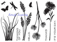WILDFLOWERS Stamp Set Clear Unmounted Rubber Stamps TECHNIQUE TUESDAY New