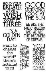 Willy Wonka Quotes Clear Unmounted Stamp Set Impression Obsession CL558 NEW