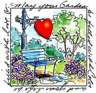 Windows To The World Cling Unmounted Rubber Stamp Art Impressions UMM3310 NEW