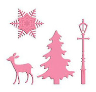 Winter Deer Scene Craft Steel Die Cutting Dies by Marianne Design COL1330 New