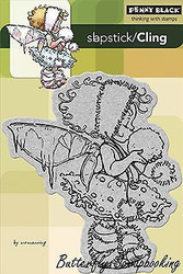 Winter Fairy, Cling Style Unmounted Rubber Stamp PENNY BLACK - NEW, 40-179