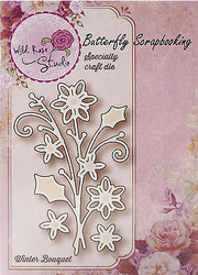 Winter Flower Bouquet Creative Steel Die Cutting Dies WILD ROSE STUDIO SD028 New