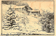 Winter Scene #2, Wood Mounted Rubber Stamp IMPRESSION OBSESSION - NEW, J7764