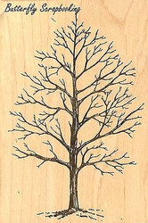 Winter Tree, Wood Mounted Rubber Stamp JUDIKINS, NEW - 2342H