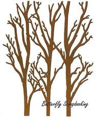 Winter Trees Background Die Cutting Die by Impression Obsession DIE310-XX New