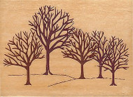 Winter Woods, Wood Mounted Rubber Stamp RUBBER STAMPEDE A2430F