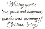 Wishing You The Love Text, Wood Mounted Rubber Stamp NORTHWOODS - NEW, M8273