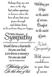 With Deepest Sympathy 7 Clear Unmounted Stamp Set Impression Obsession CL114 NEW