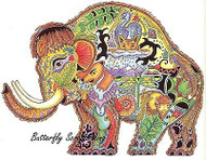 WOOLLY MAMMOTH Animal Spirit Cling Unmounted Rubber Stamp EARTH ART Sue Coccia N