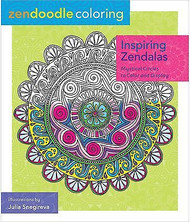 ZENDOODLE COLORING BOOK For Markers & Pencils Inspiring Zendalas 60 Designs New