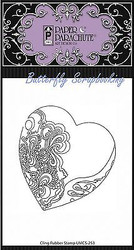 Zentangle Heart Cling Unmounted Rubber Stamp Paper Parachute UMCS-253 NEW