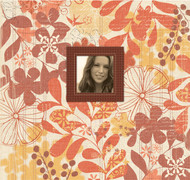 12x12 SCRAPBOOK Memory Album K&Company ORANGE MARMALADE