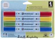 4 Stamping WATERCOLOR MARKERS Primary INKADINKADO NEW