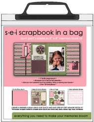 8X8 SCRAPBOOK IN A BAG GERTIS Collection Scrapbook Kit