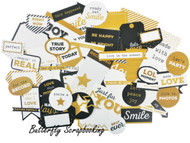 A TOUCH OF GOLD Collectables Collection Scrapbooking 50 Die Cuts Kaisercraft New