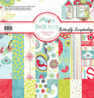 Flower Birds ALORA Collection Pack 12x12 Scrapbooking Kit BoBunny CPA449 New