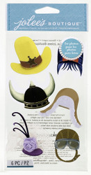 Assorted Hats EK SUCCESS Jolee's Boutique 3D Stickers NEW