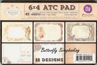 ATC Princess Collection Scrapbooking 6x4 inch Paper Pad PRIMA 45 Sheets 951092