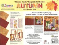 Autumn Fall Leaf Theme Collection 12X12 Scrapbooking Kit SandyLion New