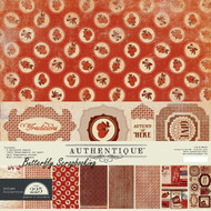 Autumn Seasons Collection 12x12 Scrapbooking Paper Crafting Kit Authentique NEW
