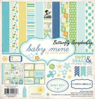 Baby Boy Collection 12X12 Scrapbooking Kit Carta Bella Paper Co Baby Mine NEW