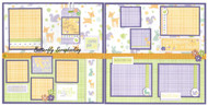 BABY Hello Little One Babies 2 Page 12X12 Page Layout Scrapbook Kit LIMITED New