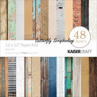 BASE COAT 12x12 Scrapbooking Paper Pad 48 Sheets Kaisercraft PP214  NEW