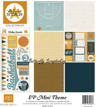 Basketball Sports All Star Collection 12X12 Scrapbooking Kit Echo Park Paper NEW