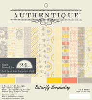 Be (You) Tiful Everyday 6x6 Scrapbooking Paper Crafting Pad Authentique 24 S NEW