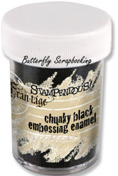 BLACK Deep Impression Embossing Enamel Powder Frantage Stampendous FREG022 New