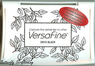 BLACK INK PAD VERSAFINE Pigment Ink Fine Details 3.5 x 2.5 inch Tsukineko NEW