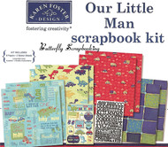 Boy Our Little Man 12X12 Scrapbooking Kit Little Boy Karen Foster NEW