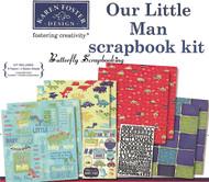 Boy Our Little Man 12X12 Scrapbooking Kit Little Boy Karen Foster NEW