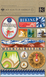 Boy Scouts Of America 3D Scrapbook Stickers Adhesive Chipboard K&Company NEW
